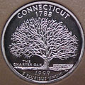 1999-S CT  Connecticut 90% Silver Gem Proof Statehood Singles