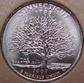 1999-P CT  Connecticut CH BU Statehood Quarter Singles