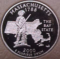 2000-S MA  Massachusetts Gem Proof Statehood Quarter Singles