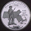 2000-S MA  Massachusetts 90% Silver Gem Proof Statehood Singles