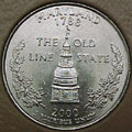 2000-D MD  Maryland CH BU Statehood Quarter Singles