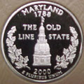 2000-S MD  Maryland Gem Proof Statehood Quarter Singles