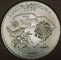 2000-P SC  South Carolina CH BU Statehood Quarter Singles
