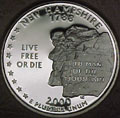 2000-S NH  New Hampshire Gem Proof Statehood Quarter Singles