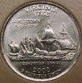 2000-P VA  Virginia CH BU Statehood Quarter Singles