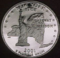 2001-S NY  New York 90% Silver Gem Proof Statehood Singles