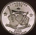 2002-S TN  Tennessee Gem Proof Statehood Quarter Singles