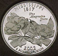 2002-S MS  Mississippi Gem Proof Statehood Quarter Singles