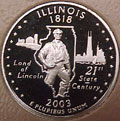 2003-S IL  Illinois Gem Proof Statehood Quarter Singles