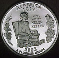 2003-S AL  Alabama 90% Silver Gem Proof Statehood Singles
