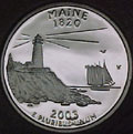 2003-S ME  Maine Gem Proof Statehood Quarter Singles