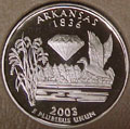 2003-S AR  Arkansas Gem Proof Statehood Quarter Singles