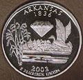 2003-S AR  Arkansas 90% Silver Gem Proof Statehood Singles