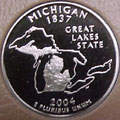 2004-S MI  Michigan Gem Proof Statehood Quarter Singles