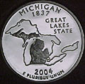 2004-S MI  Michigan 90% Silver Gem Proof Statehood Singles