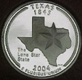 2004-S TX Texas 90% Silver Gem Proof Statehood Singles