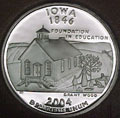2004-S IA  Iowa 90% Silver Gem Proof Statehood Singles