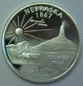 2006-S NE Nebraska 90% Silver Gem Proof Statehood Singles