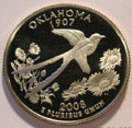 2008-S OK Oklahoma Gem Proof Statehood Quarter Singles