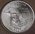 2004-P MI  Michigan CH BU Statehood Quarter Singles