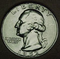 1952-P CH BU Washington Quarter Singles