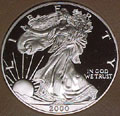 2000 Gem Proof Silver Eagle Dollar Singles