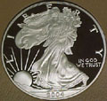 2004 Gem Proof Silver Eagle Dollar Singles