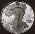 1990 Gem Proof Silver Eagle Dollar Singles