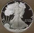 1992 Gem Proof Silver Eagle Dollar Singles