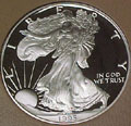 1995 Gem Proof Silver Eagle Dollar Singles