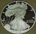 1997 Gem Proof Silver Eagle Dollar Singles