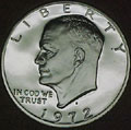 1972-S 40% Silver Gem Proof Eisenhower Dollar Singles