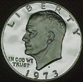 1973-S 40% Silver Gem Proof Eisenhower Dollar Singles