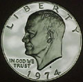 1974-S 40% Silver Gem Proof Eisenhower Dollar Singles