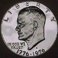 1976-S Type 1 Gem Proof Eisenhower Dollar Singles