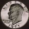 1977-S Gem Proof Eisenhower Dollar Singles