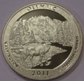 2011-S Clad Proof Olympic National Park - America the Beautiful