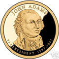 2007-S Gem Proof Adams Presidential Dollar Singles