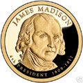 2007-S Gem Proof Madison Presidential Dollar Singles
