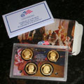 2007 Presidential $1 Coin Proof Set 4 Coins PD0