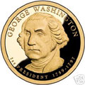 2007-S Gem Proof Washington Presidential Dollar Singles