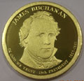 2010-S Gem Proof James Buchanan Presidential Dollar Singles