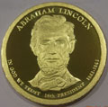 2010-S Gem Proof Abraham Lincoln Presidential Dollar Singles