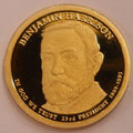 2012-S Gem Proof Benjamin Harrison 23rd Presidential Dollar Sing