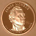 2008-S Gem Proof Monroe Presidential Dollar Singles