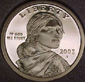 2003-S Gem Proof Sacagawea Dollar Singles