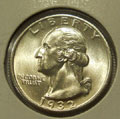 1932 P MS 65 Washington Quarter