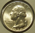 1934 P MS 65 Washington Quarter
